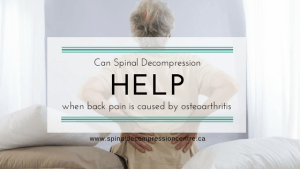 OSTEOARTHRITIS OF THE SPINE CAUSING BACK PAIN