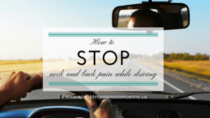 Back pain and neck pain while driving